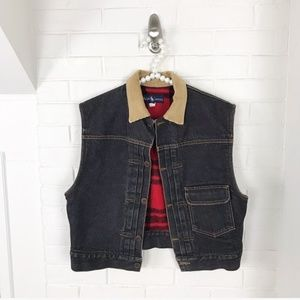 {Ralph Lauren} Vintage Denim Flannel Lined Vest